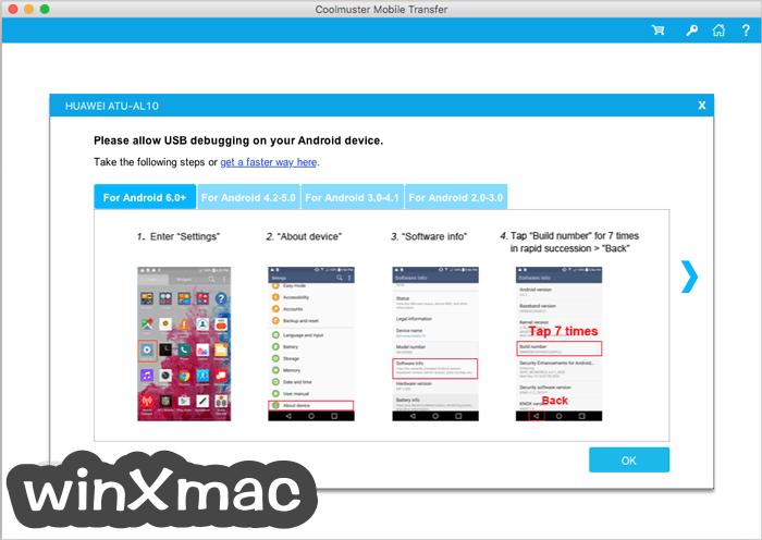 Coolmuster Mobile Transfer for Mac Screenshot 2