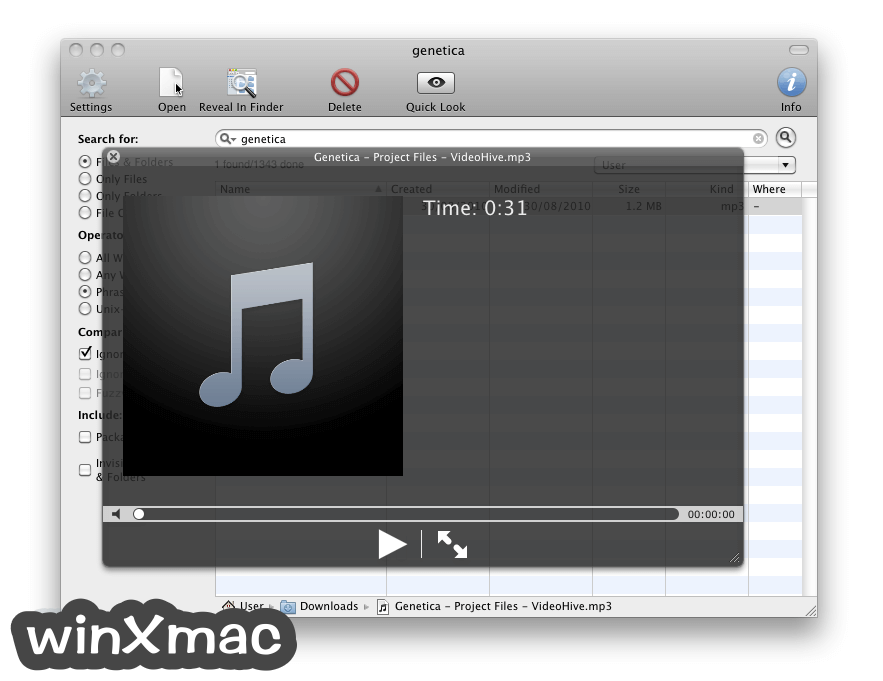 EasyFind for Mac Screenshot 3