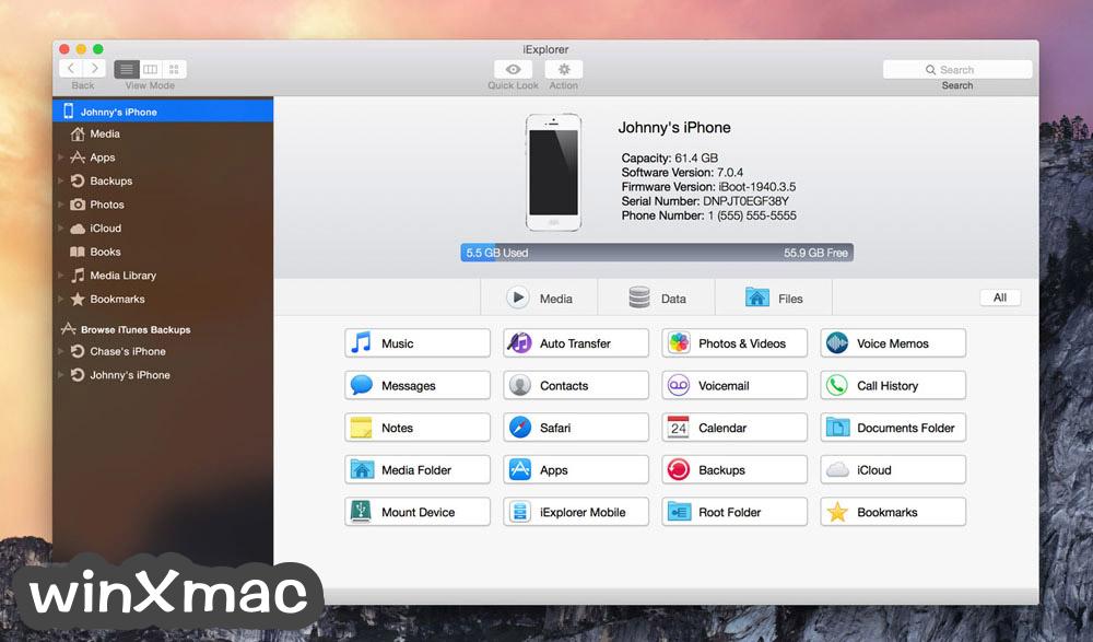 iExplorer for Mac Screenshot 1