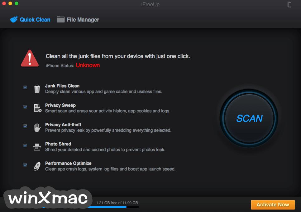 iFreeUp for Mac Screenshot 1