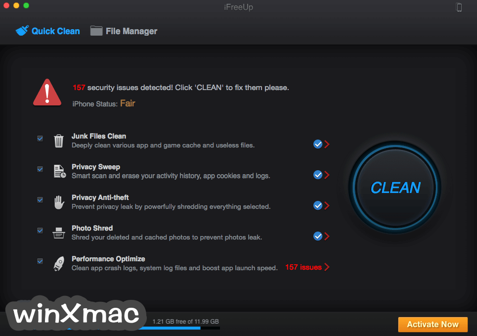 iFreeUp for Mac Screenshot 2