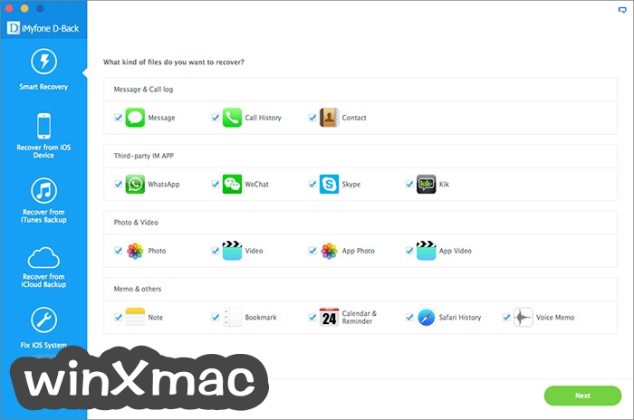iMyfone D-Back for Mac Screenshot 1