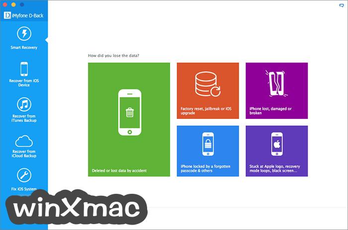 iMyfone D-Back for Mac Screenshot 2