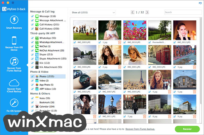 iMyfone D-Back for Mac Screenshot 5