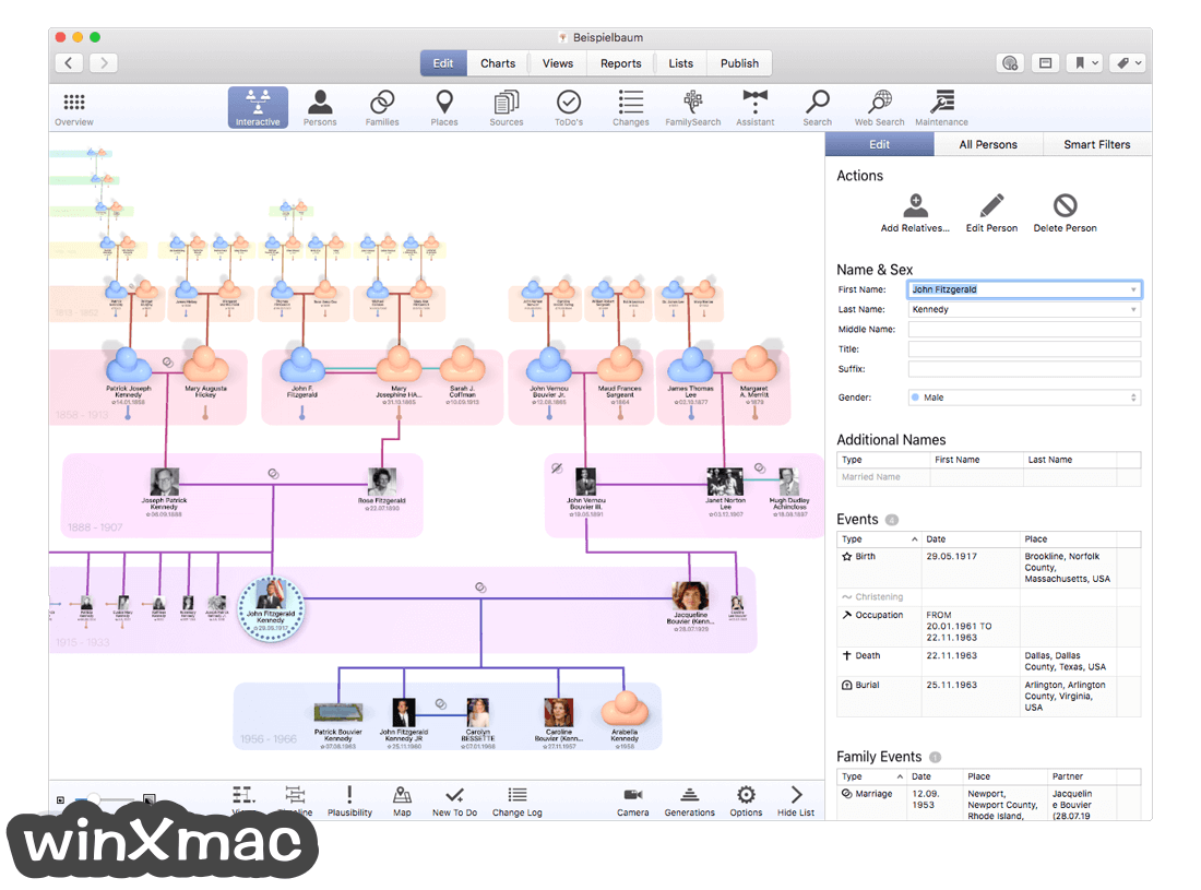 MacFamilyTree Screenshot 2