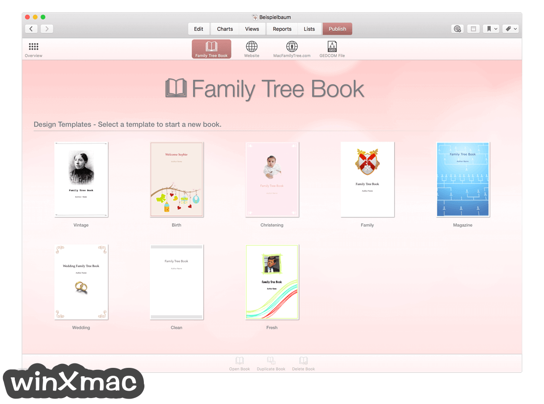 MacFamilyTree Screenshot 5