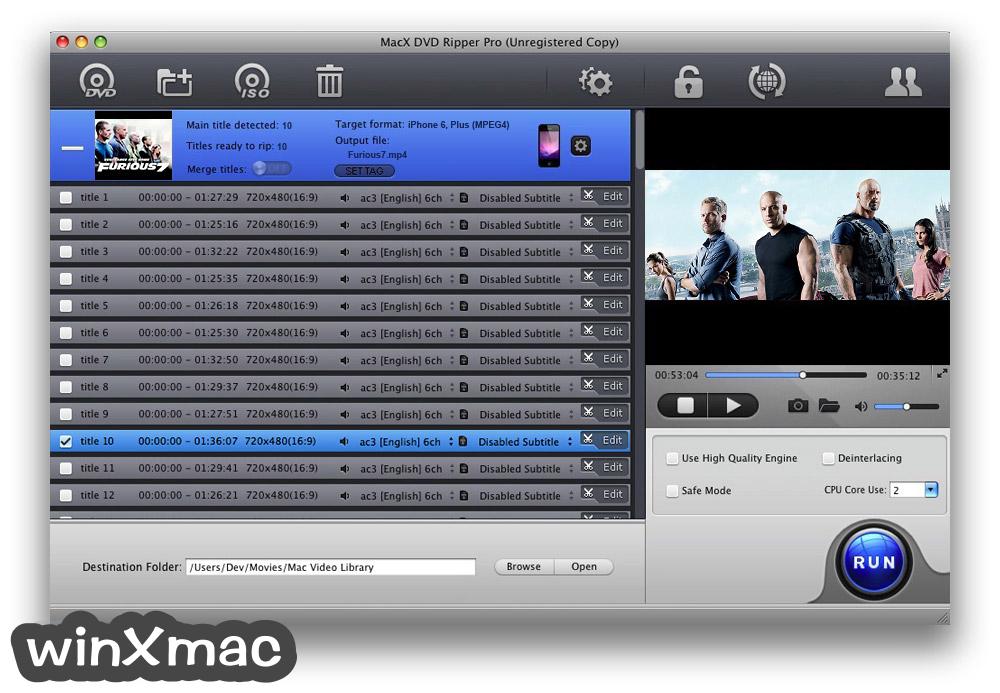 MacX DVD Ripper Pro Screenshot 1