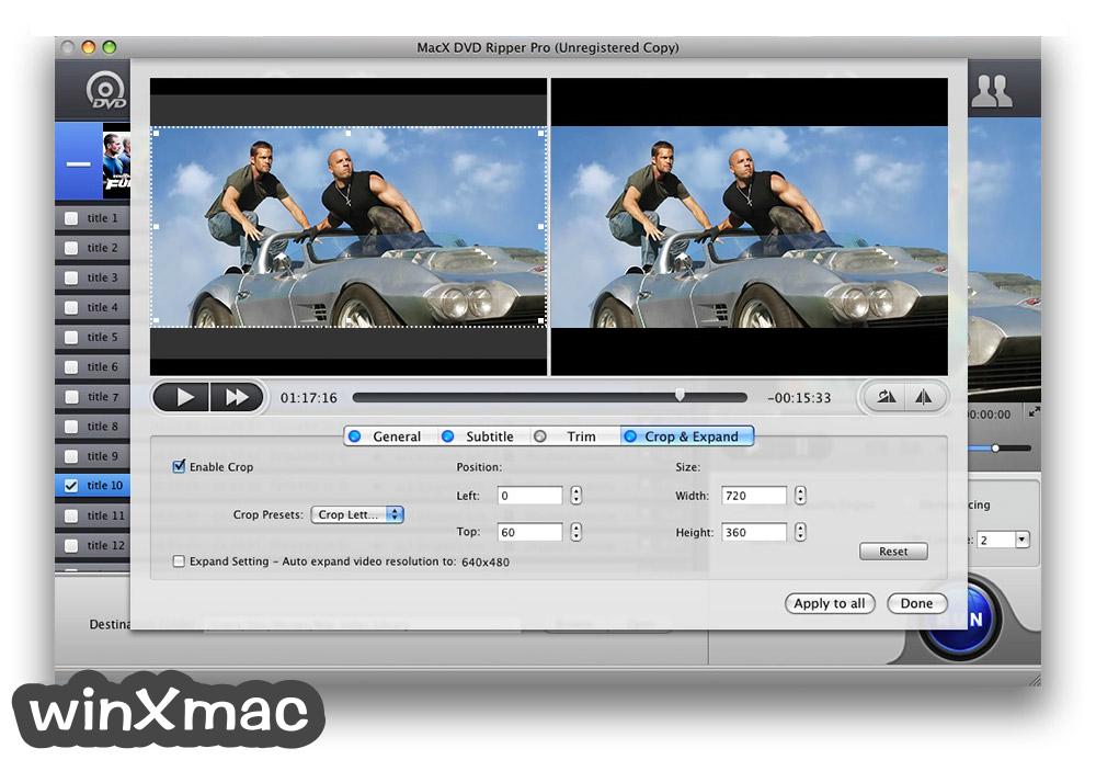 MacX DVD Ripper Pro Screenshot 2