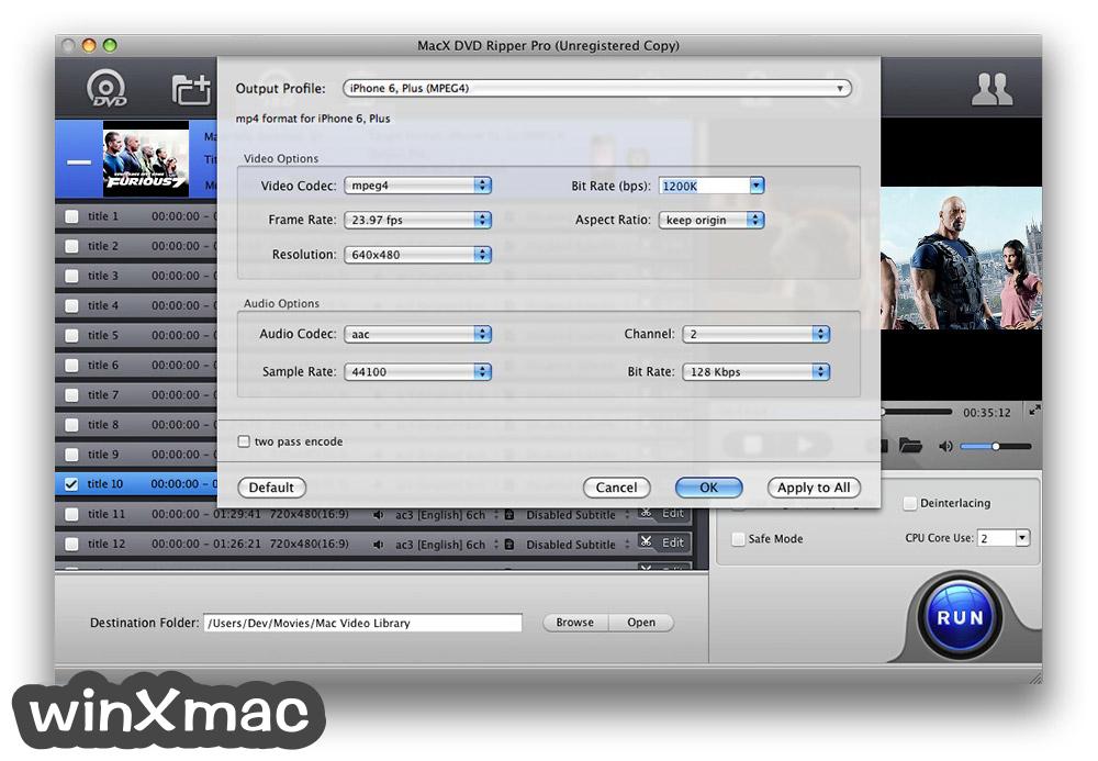 MacX DVD Ripper Pro Screenshot 4