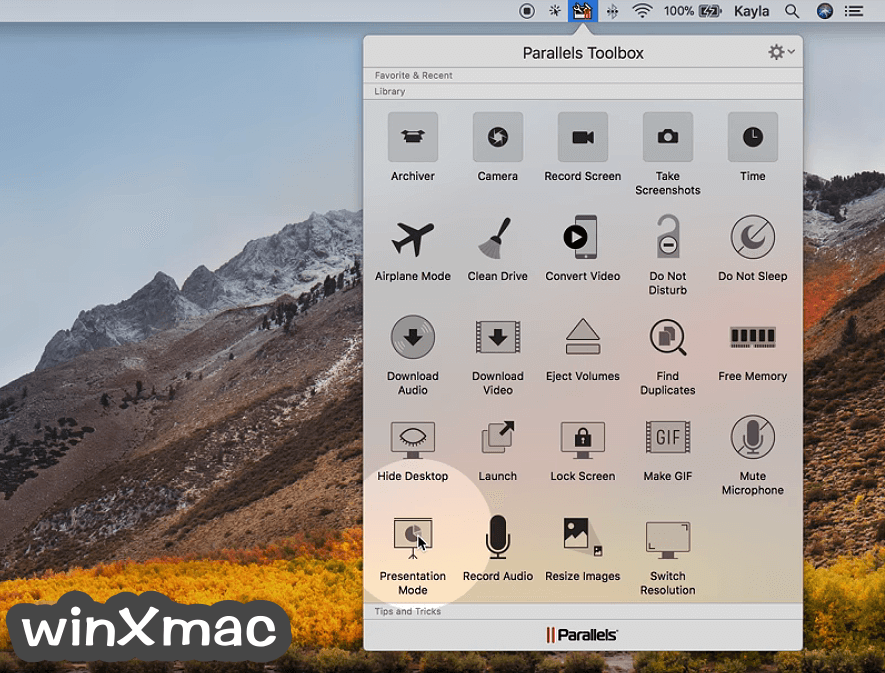 Parallels Toolbox for Mac Screenshot 1