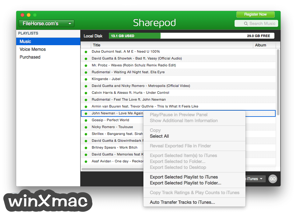 Sharepod for Mac Screenshot 3
