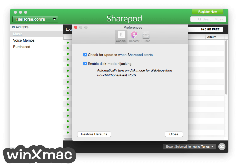 Sharepod for Mac Screenshot 4