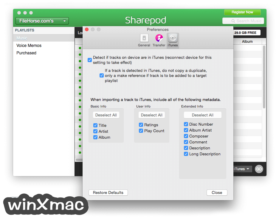 Sharepod for Mac Screenshot 5