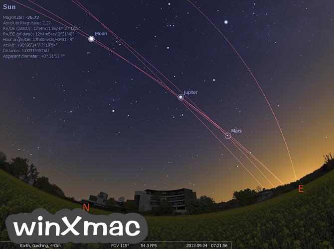 Stellarium for Mac Screenshot 1