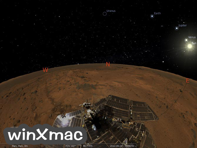 Stellarium for Mac Screenshot 2