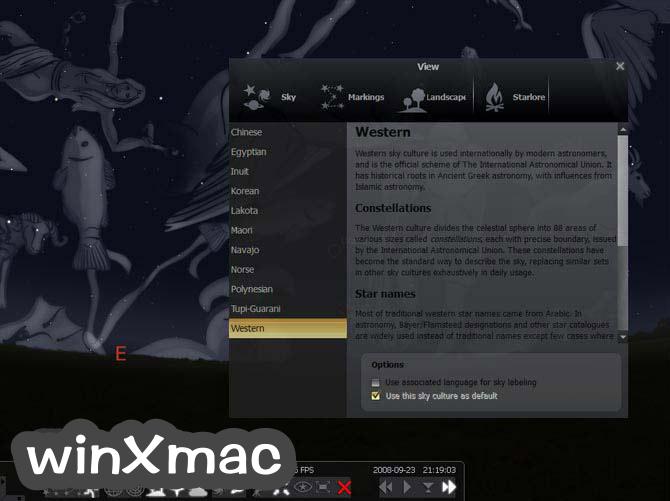 Stellarium for Mac Screenshot 4