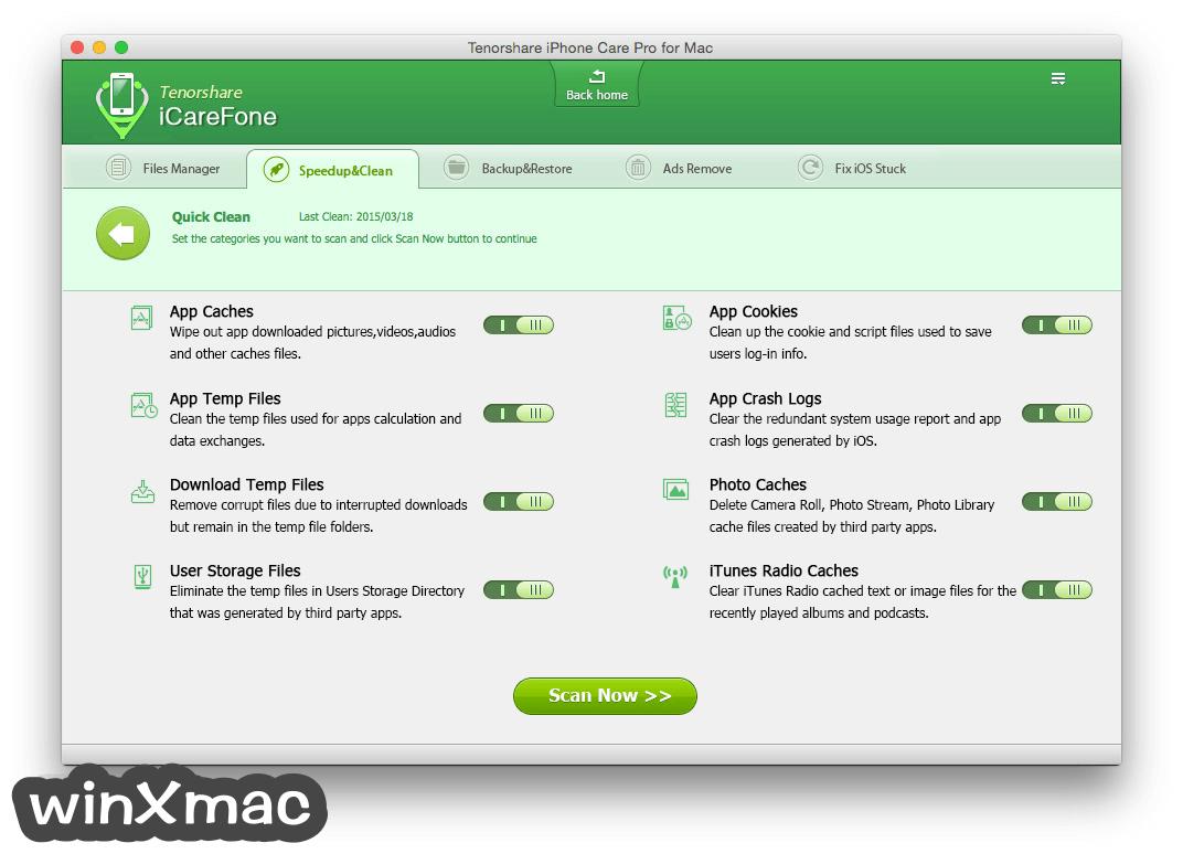 Tenorshare iCareFone for Mac Screenshot 3