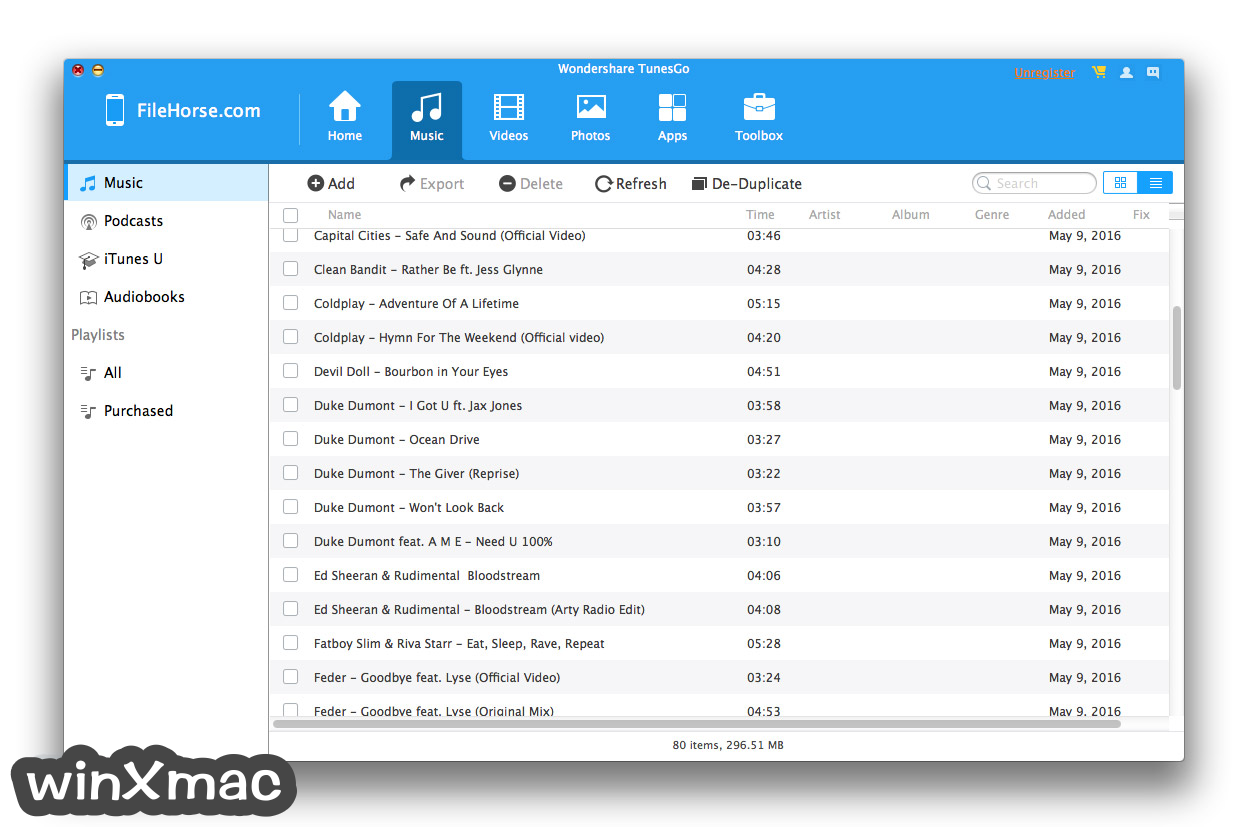 TunesGo for Mac Screenshot 2