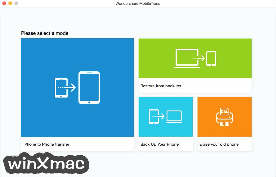 Wondershare MobileTrans for Mac Screenshot 1