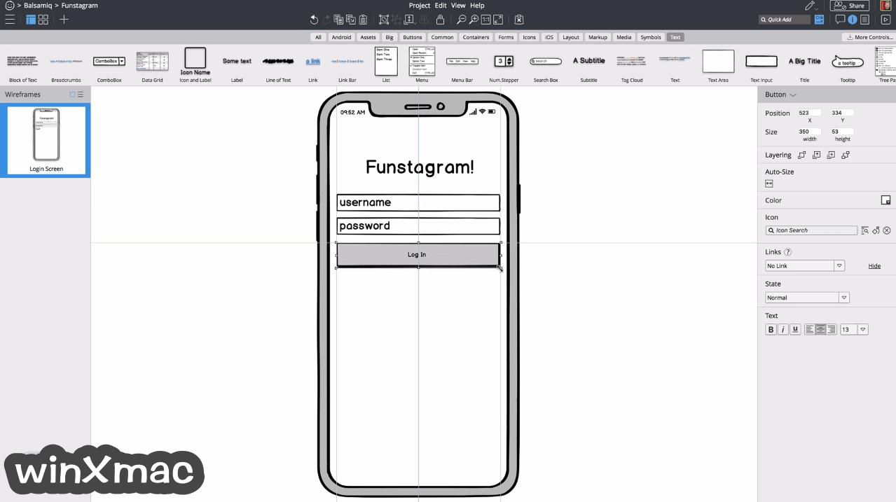 Balsamiq Wireframes for Mac Screenshot 1