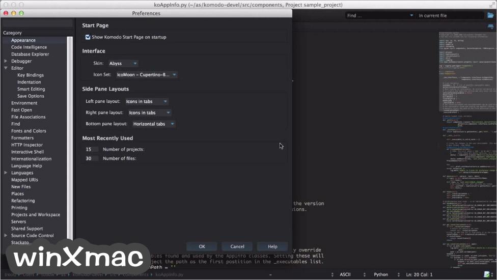 Komodo Edit for Mac Screenshot 5