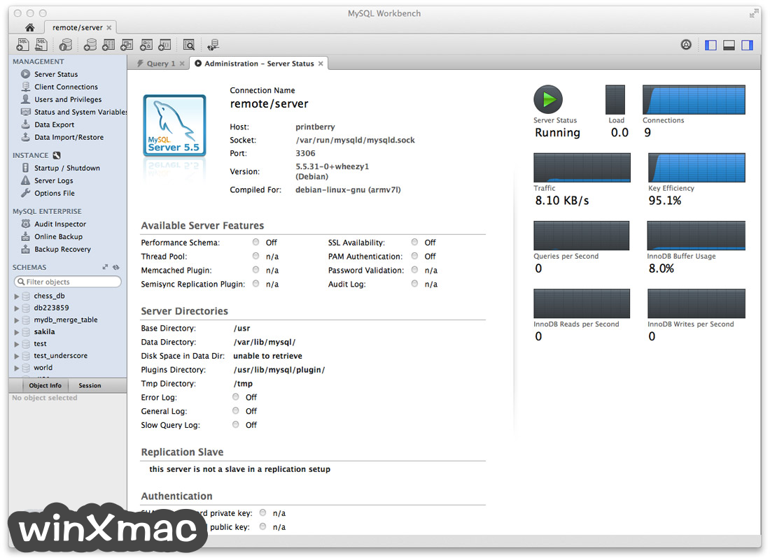 MySQL Workbench for Mac Screenshot 1