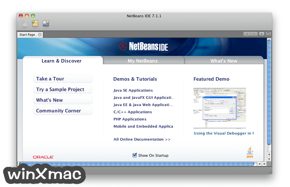 NetBeans IDE for Mac Screenshot 1