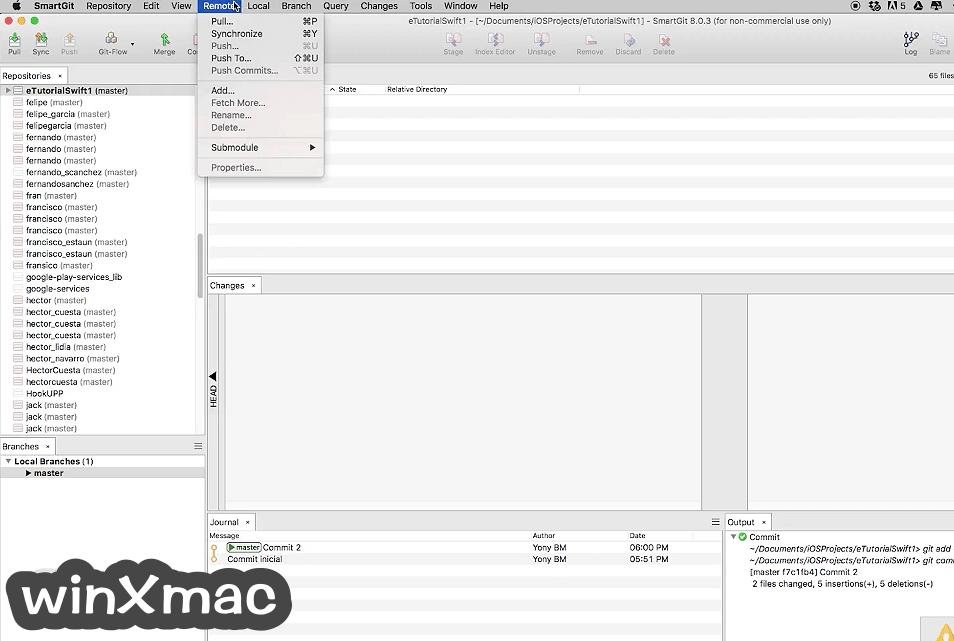SmartGit for Mac Screenshot 1