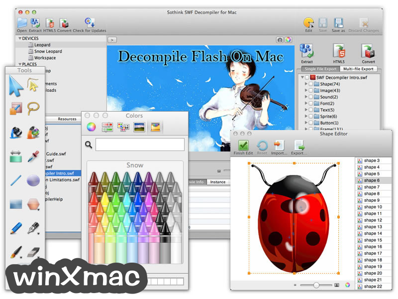 Sothink SWF Decompiler for Mac Screenshot 1