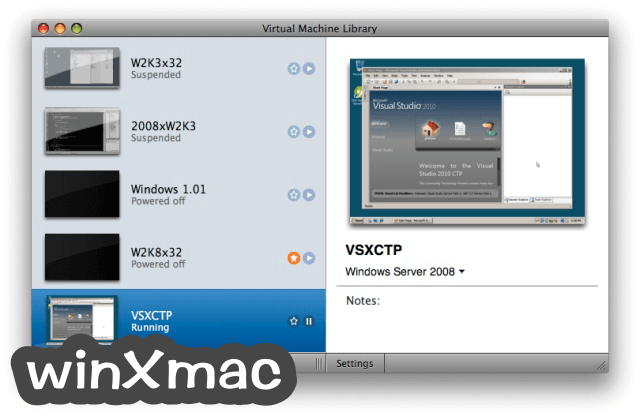 VMware Fusion for Mac Screenshot 2