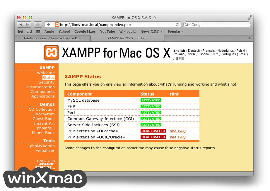 XAMPP for Mac Screenshot 5