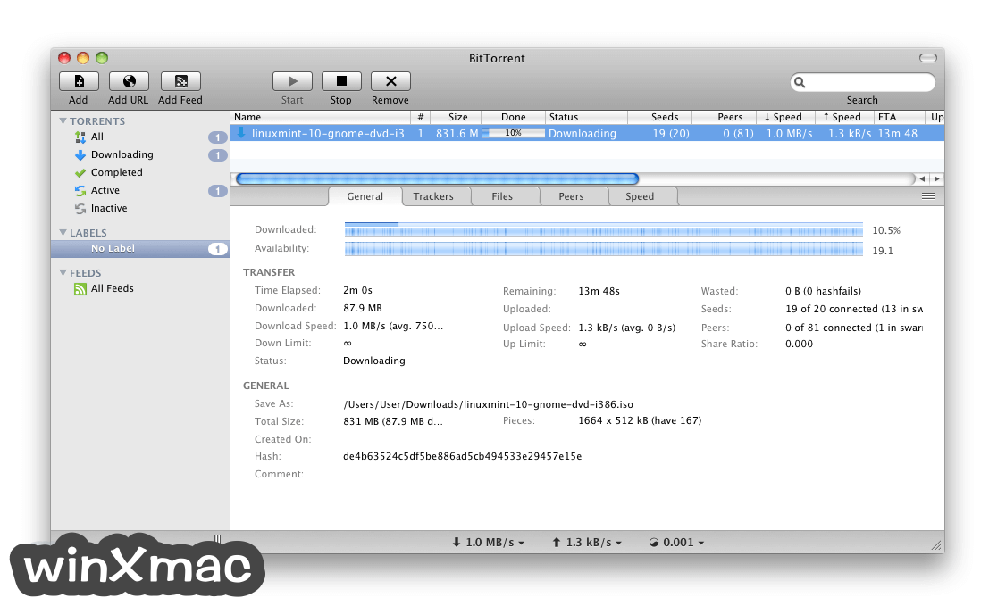 BitTorrent for Mac Screenshot 1