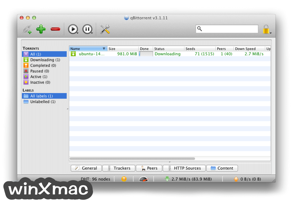 qBittorrent for Mac Screenshot 1