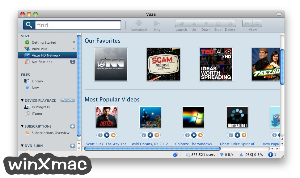 Vuze for Mac Screenshot 2