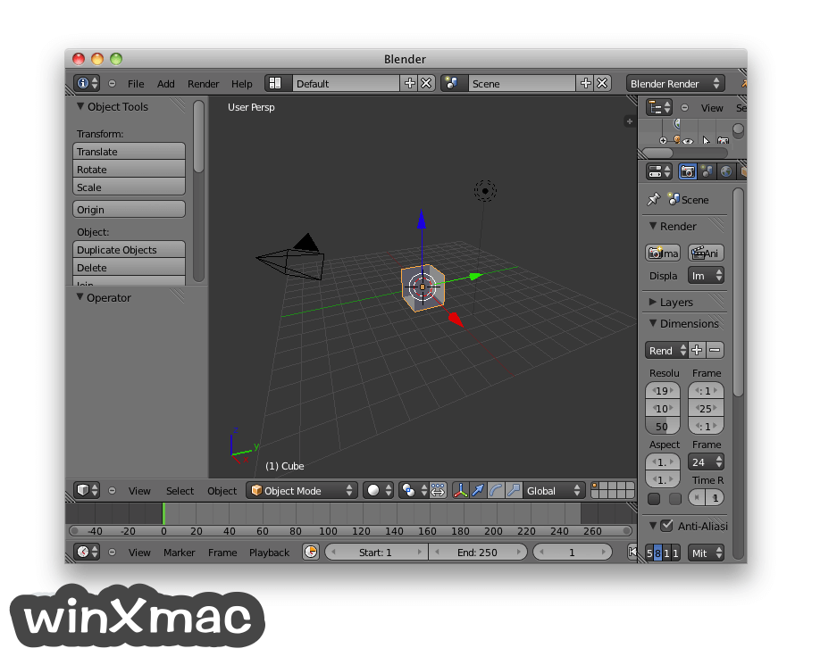 Blender for Mac Screenshot 1