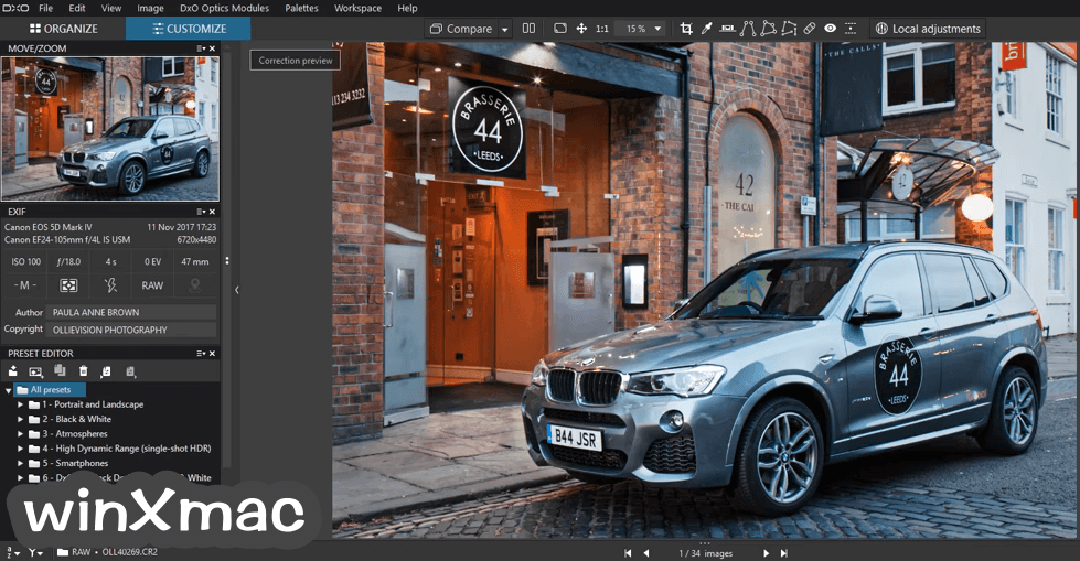 DxO PhotoLab for Mac Screenshot 1