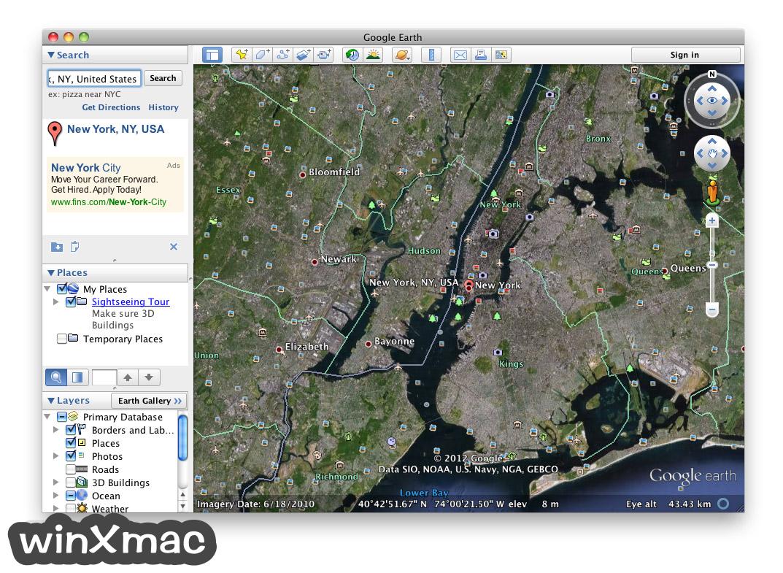 Google Earth for Mac Screenshot 4