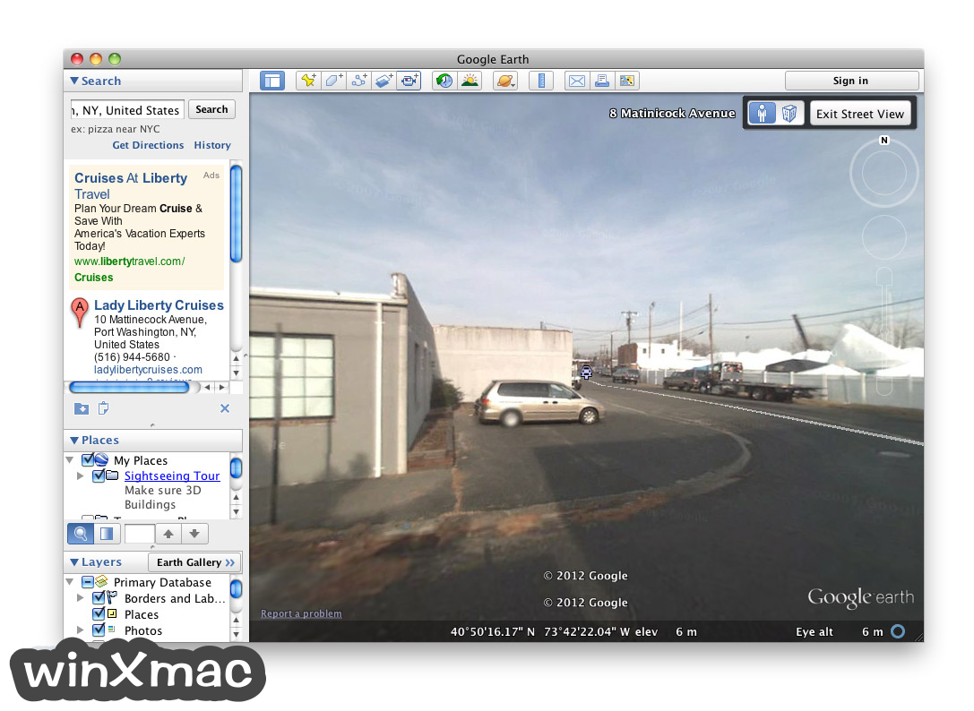 Google Earth for Mac Screenshot 5