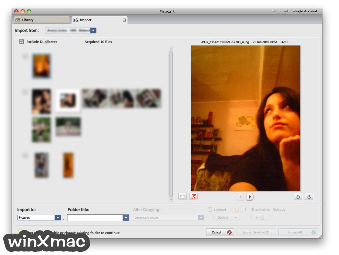 Picasa for Mac Screenshot 1