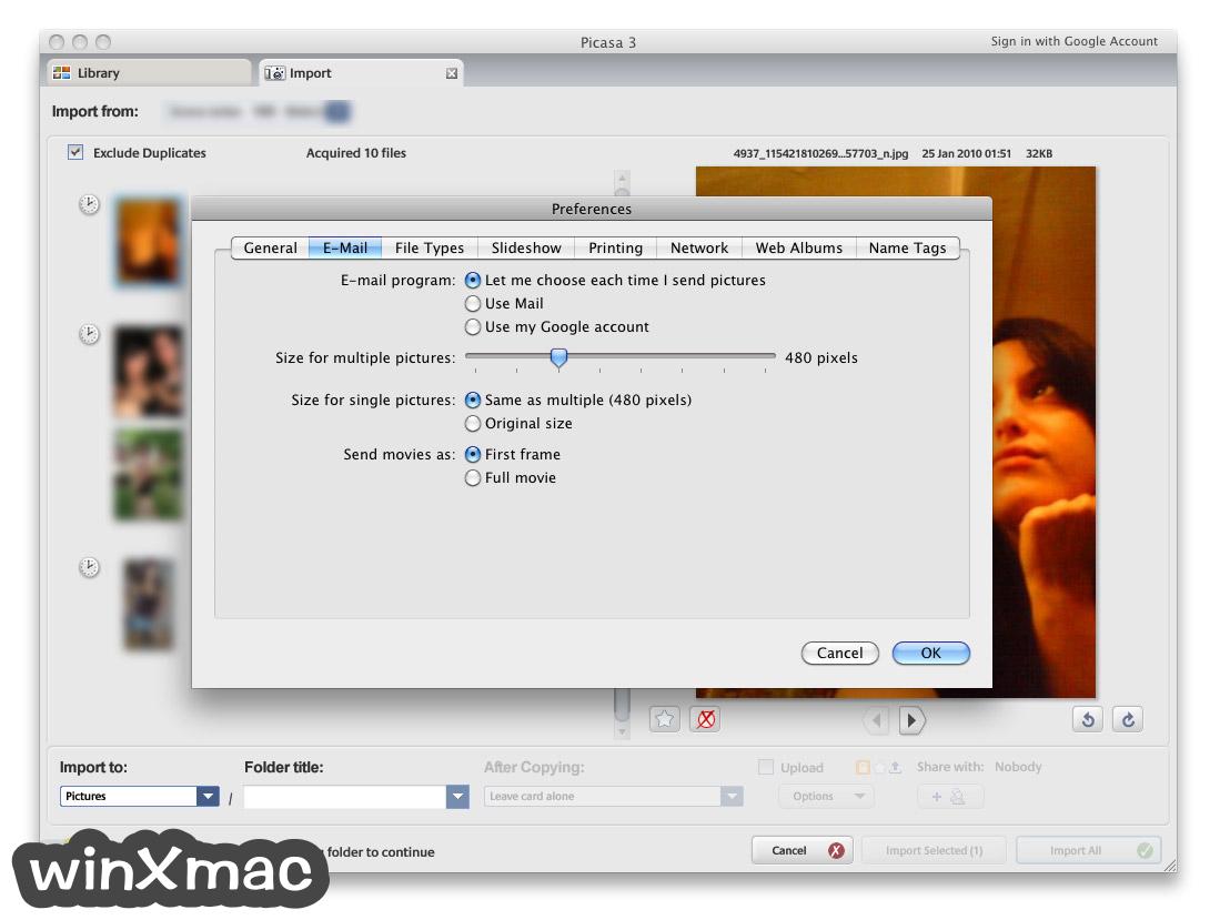 Picasa for Mac Screenshot 2
