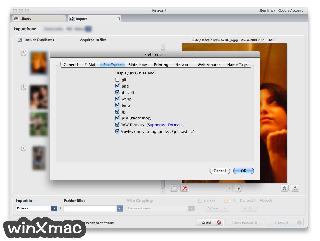 Picasa for Mac Screenshot 3