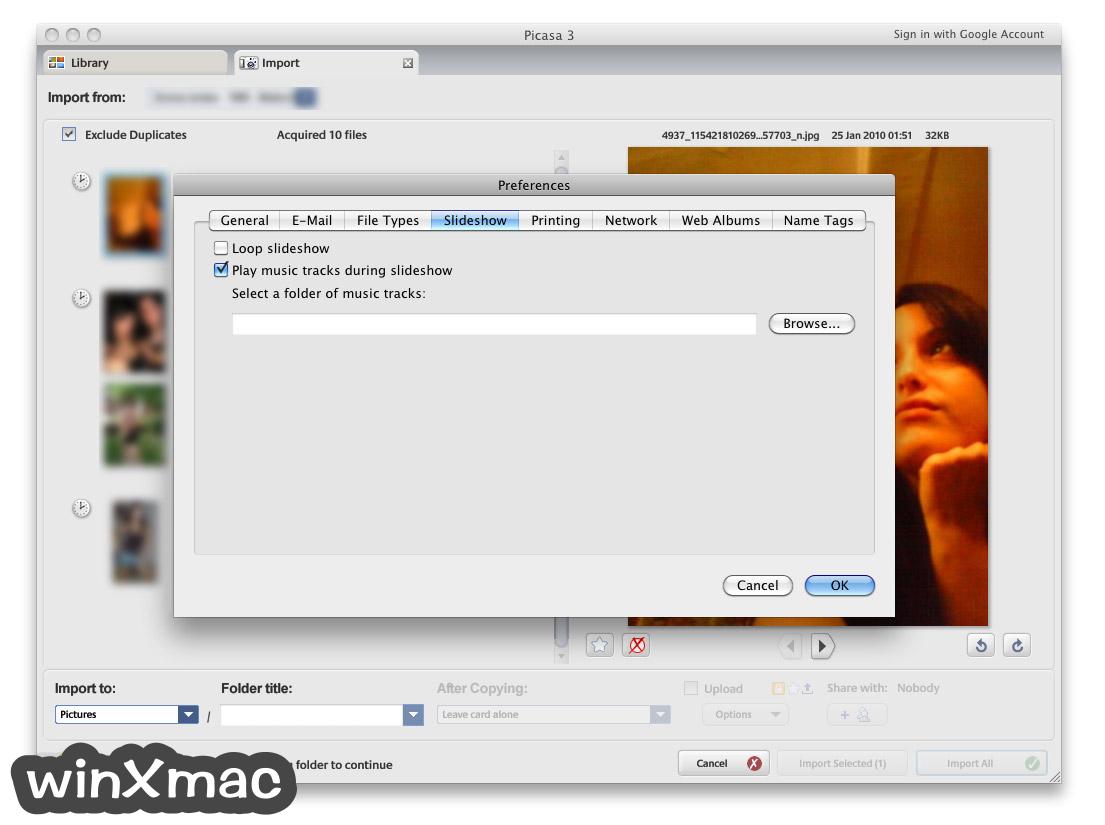 Picasa for Mac Screenshot 4