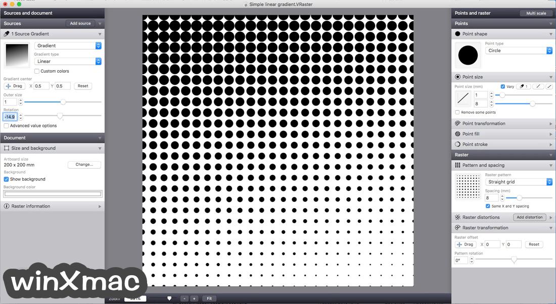 Vectoraster for Mac Screenshot 1