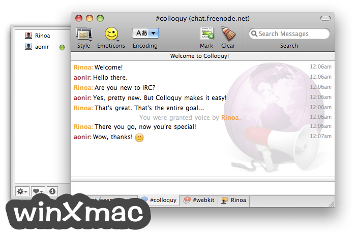 Colloquy for Mac Screenshot 2