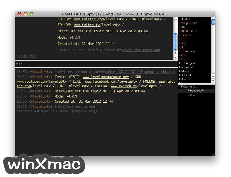 LimeChat for Mac Screenshot 2
