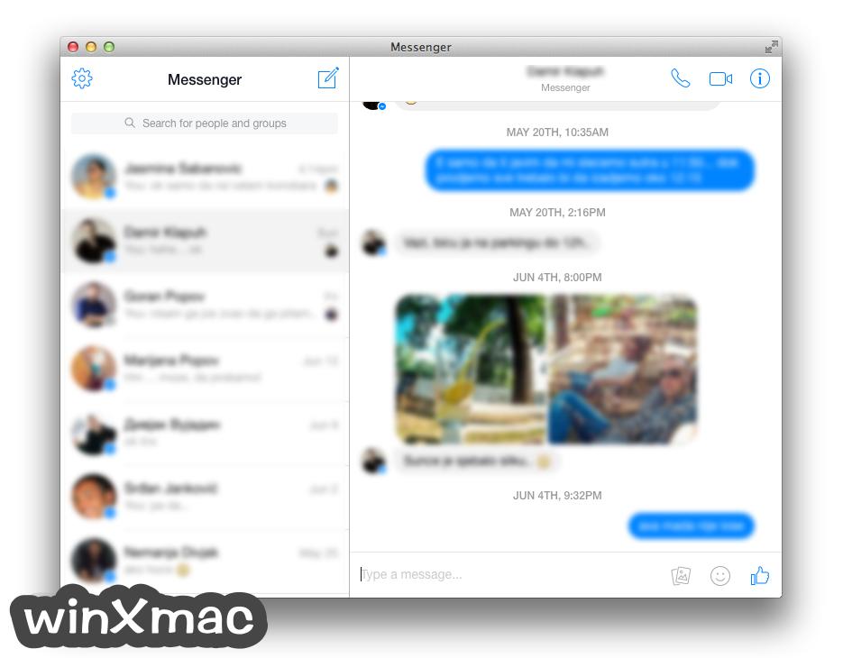 Messenger for Mac Desktop Screenshot 2