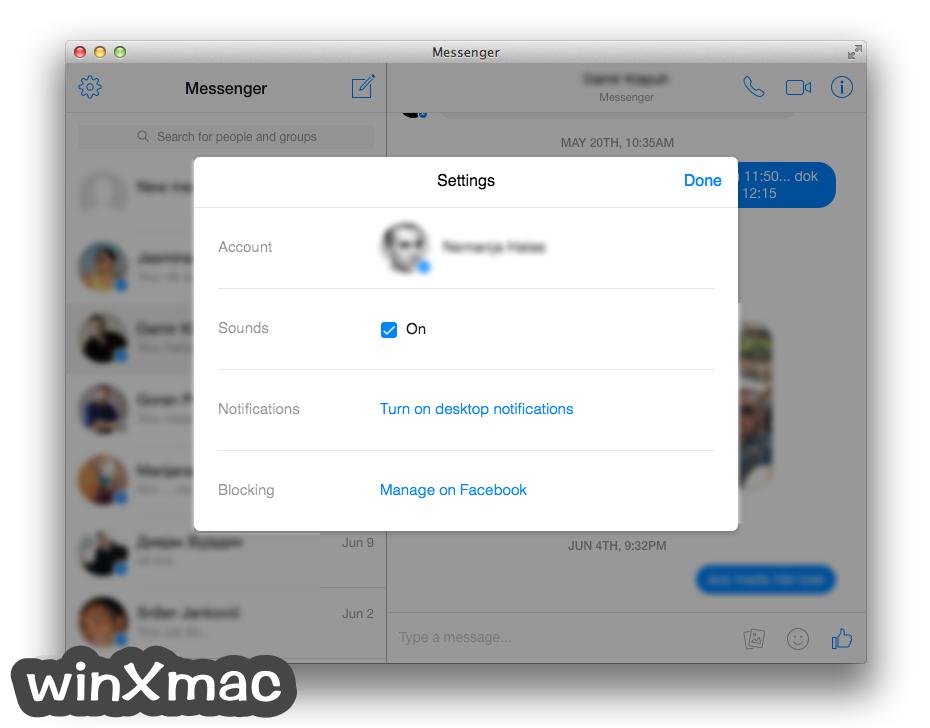 Messenger for Mac Desktop Screenshot 3