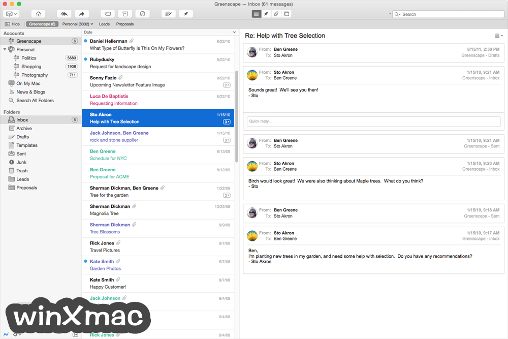 Postbox for Mac Screenshot 1