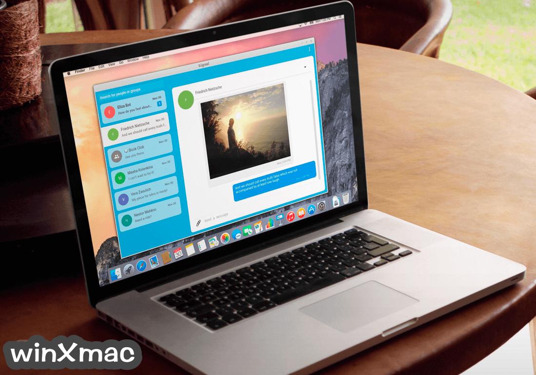 Signal Desktop for Mac Screenshot 1