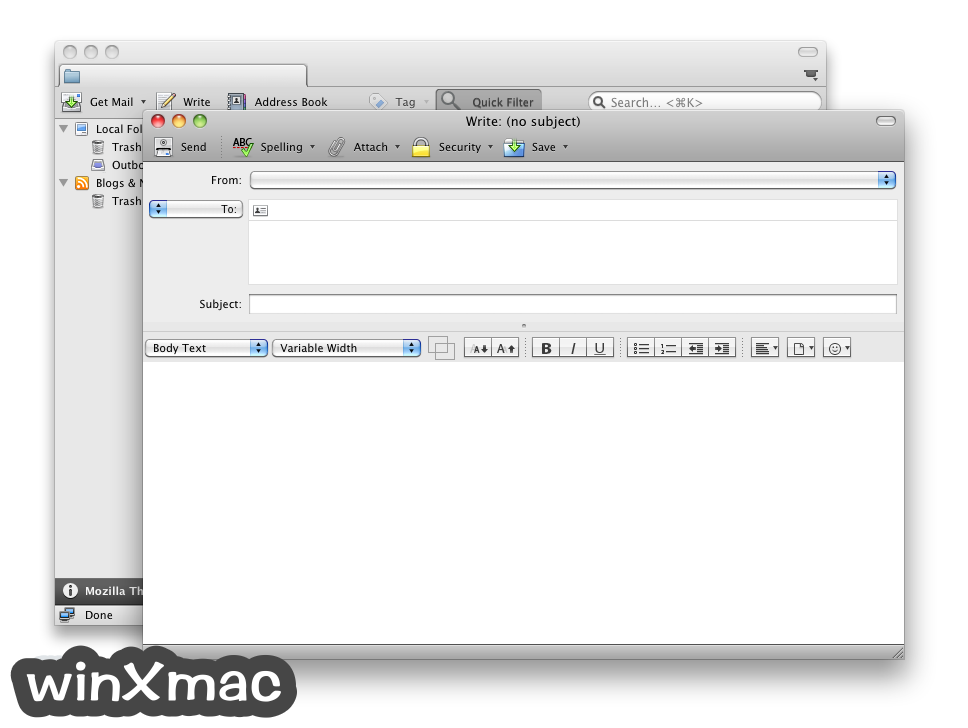 Thunderbird for Mac Screenshot 5
